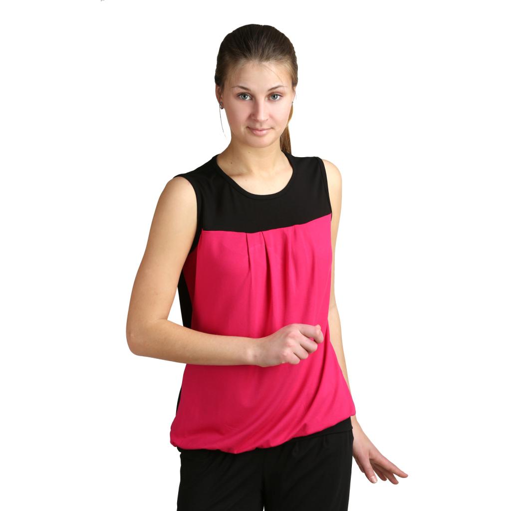 Женская блуза Тани Малиновый, размер 46Рубашки<br>Обхват груди: 92 см <br>Обхват талии: 73 см <br>Обхват бедер: 100 см <br>Длина по спинке: 67 см <br>Рост: 164-170 см<br><br>Тип: Жен. блузка<br>Размер: 46<br>Материал: Вискоза
