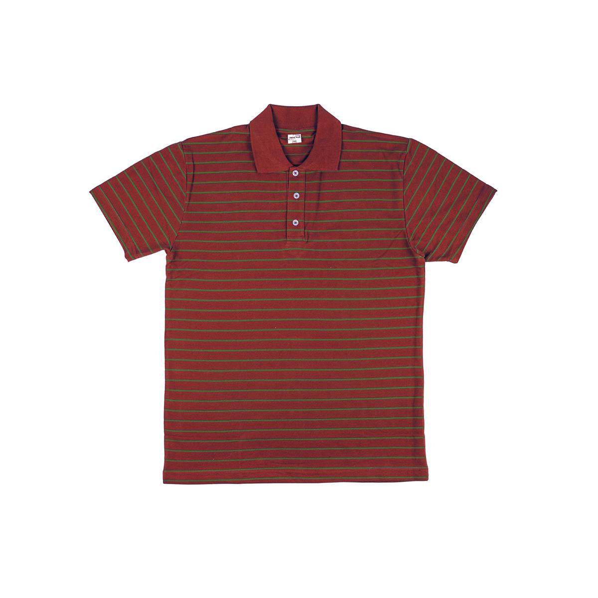 Мужская футболка-поло Stripe Polo Красный, размер 48Футболки и майки<br><br><br>Тип: Муж. футболка<br>Размер: 48<br>Материал: Хлопок
