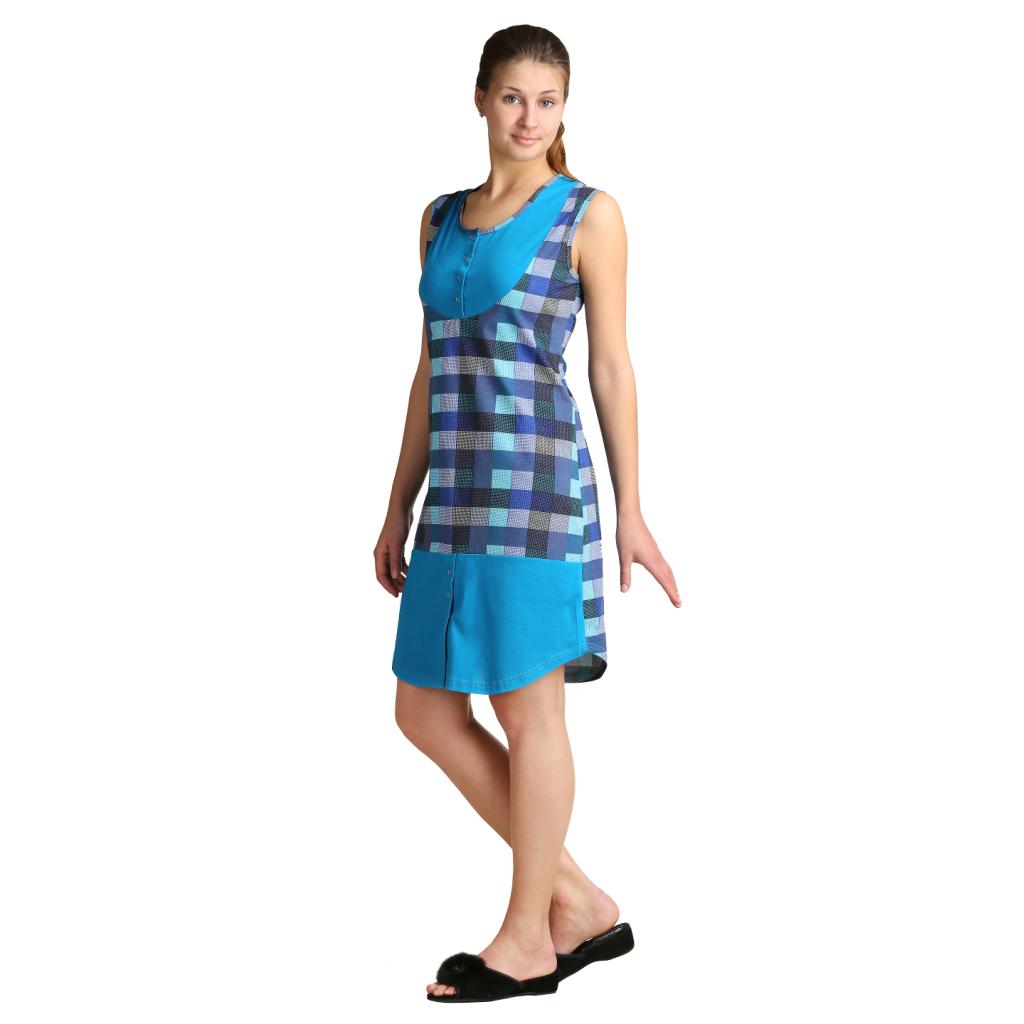 Женское платье Арина Бирюзовый, размер 46Платья, туники<br>Обхват груди:92 см<br>Обхват талии:73 см<br>Обхват бедер:100 см<br>Длина по спинке:95 см<br>Рост:164-170 см<br><br>Тип: Жен. платье<br>Размер: 46<br>Материал: Кулирка
