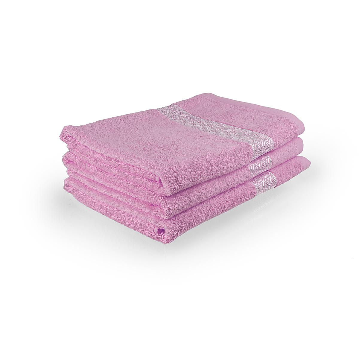 """Полотенце """"Серебро"""" Розовый, размер 50х100 см Китай """"Sunvim"""""""
