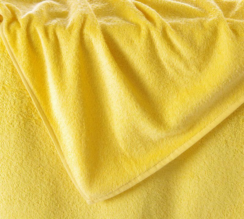 Махровая простынь Итали Ярко-желтый, размер 155х200 смПростыни<br>Плотность ткани:380 г/кв. м<br><br>Тип: Простыня<br>Размер: 1,5-сп.<br>Материал: Махра