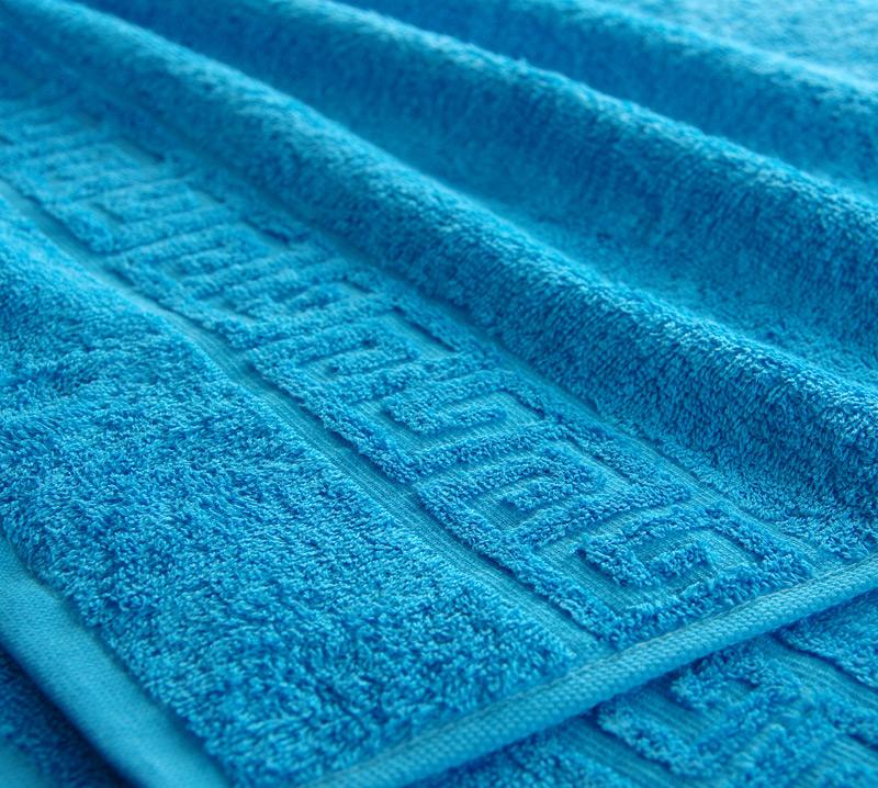 Полотенце Греко Голубой, размер 70х140 смМахровые полотенца<br>Плотность ткани: 400 г/кв. м.<br><br>Тип: Полотенце<br>Размер: 70х135<br>Материал: Махра