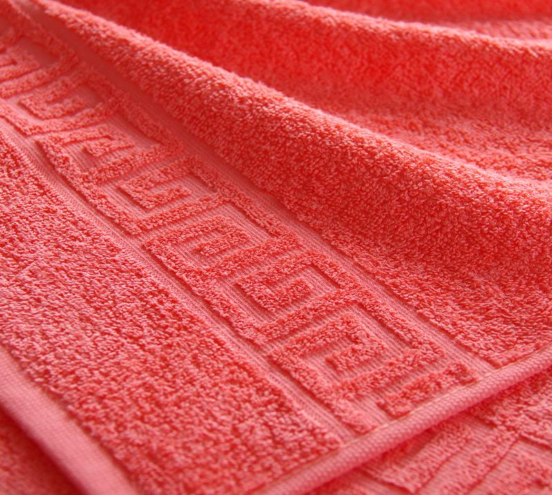 Полотенце Греко Коралл, размер 100х180 смМахровые полотенца<br>Плотность ткани: 400 г/кв. м.<br><br>Тип: Полотенце<br>Размер: 100х180<br>Материал: Махра