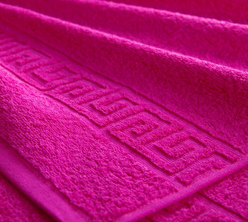Полотенце Греко Малиновый, размер 70х140 смМахровые полотенца<br>Плотность ткани:400 г/кв. м.<br><br>Тип: Полотенце<br>Размер: 70х140<br>Материал: Махра