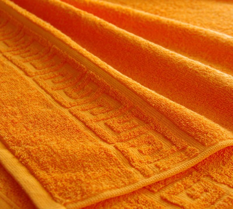 Полотенце Греко Оранжевый, размер 100х180 смМахровые полотенца<br>Плотность ткани:400 г/кв. м.<br><br>Тип: Полотенце<br>Размер: 100х180<br>Материал: Махра