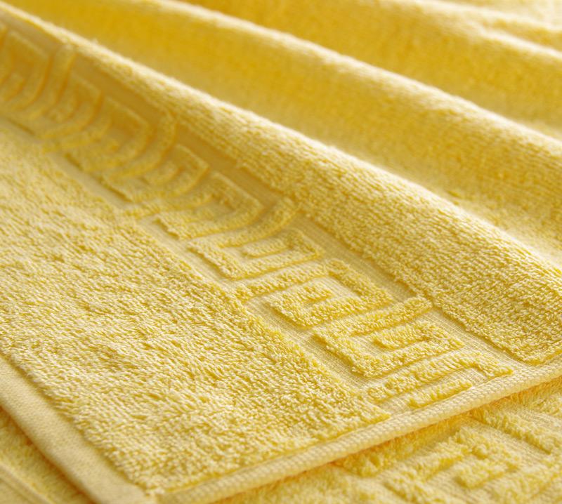 Полотенце Греко Желтый, размер 100х180 смМахровые полотенца<br>Плотность ткани:400 г/кв. м.<br><br>Тип: Полотенце<br>Размер: 100х180<br>Материал: Махра