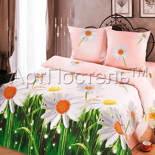 КПБ Зима-Лето  Ромашки , размер 2,0-спальный - Постельное белье артикул: 8995