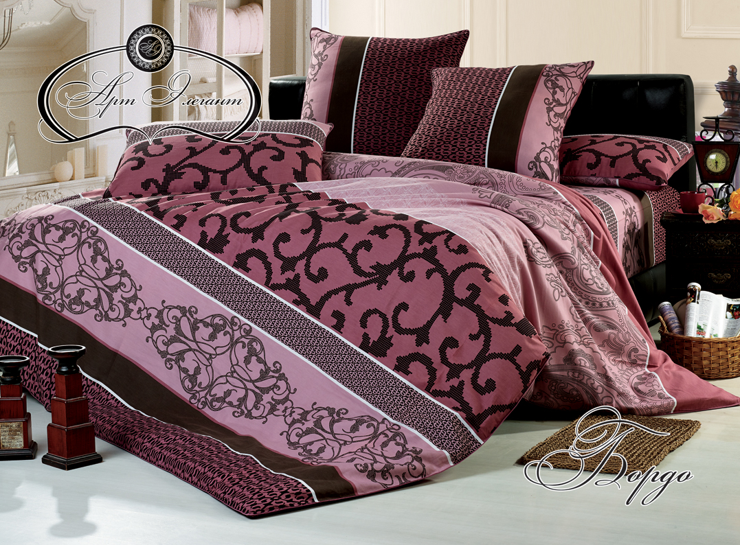 Комплект  Бордо , размер Семейный с 4 наволочками - Постельное белье артикул: 10712