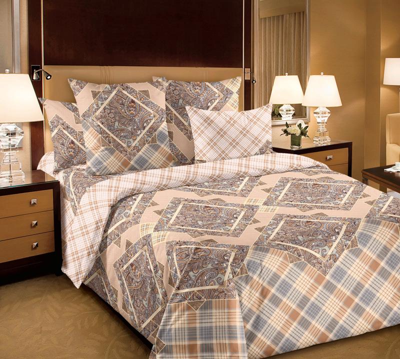 КПБ  Итальянка  Бежевый, размер 2,0-спальный с европростыней - Акции и скидки артикул: 8361