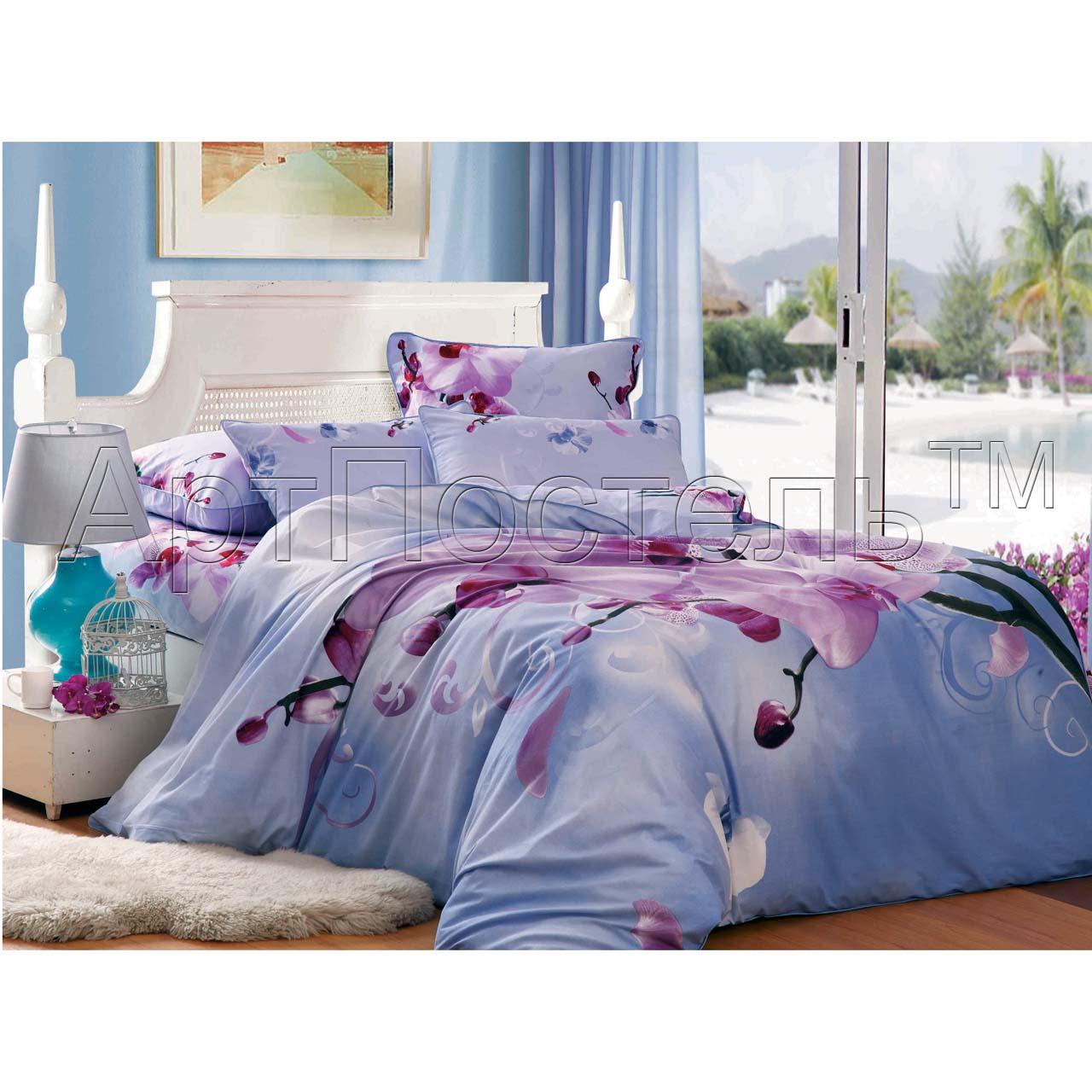 Комплект  Орхидея , размер Семейный с 4 наволочками - Постельное белье артикул: 10721