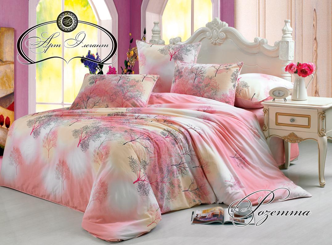 Комплект  Розетта  Розовый, размер 2,0-спальный с 4 наволочками - Постельное белье артикул: 10734