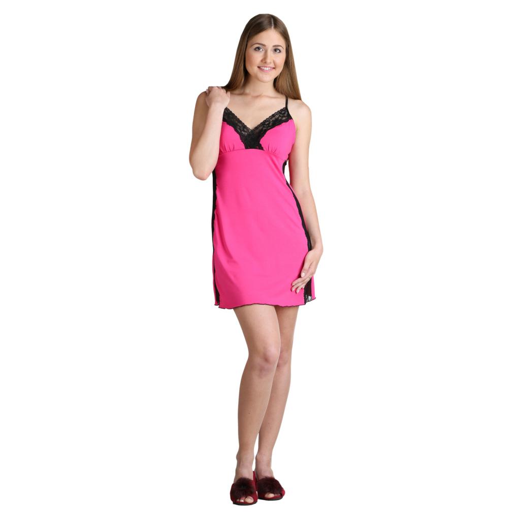 Женская сорочка Рианна Малиновый, размер 44Пижамы и ночные сорочки<br>Обхват груди:88 см<br>Обхват талии:69 см<br>Обхват бедер:96 см<br>Длина по спинке:70 см<br>Рост:164-170 см<br><br>Тип: Жен. сорочка<br>Размер: 44<br>Материал: Вискоза.