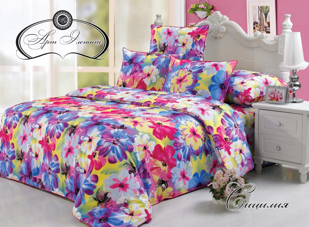 Комплект  Сицилия , размер 2,0-спальный с 4 наволочками - Постельное белье артикул: 10742