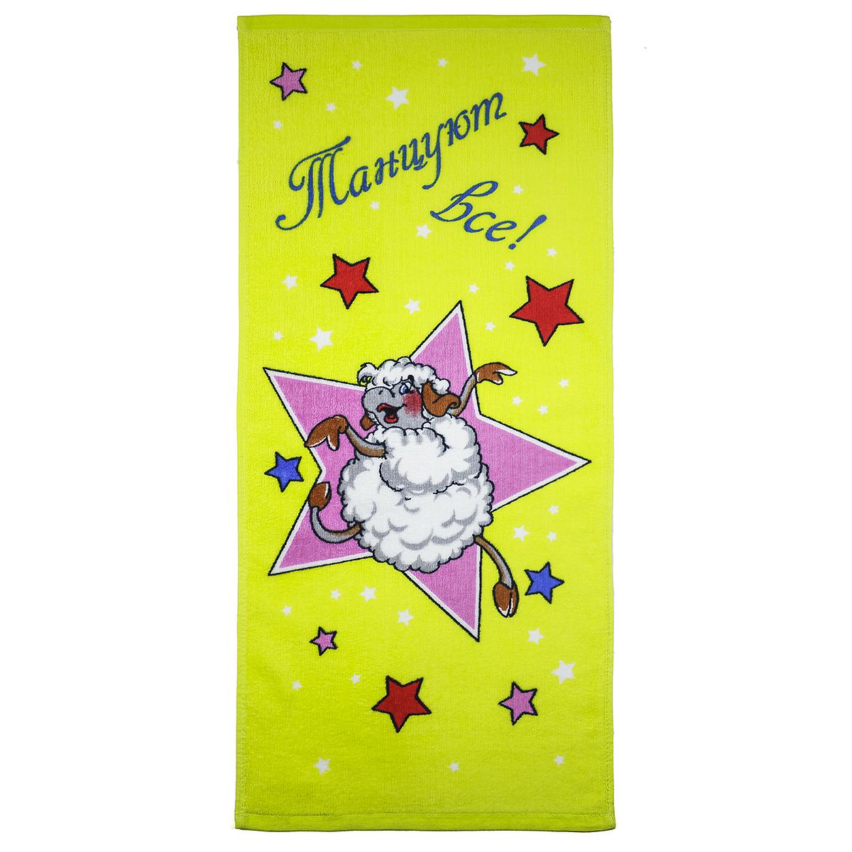 Полотенце Танцуют все!, цвет Розовый, размер 34х78 смМахровые полотенца<br>Плотность ткани:360 г/кв. м.<br><br>Тип: Полотенце<br>Размер: 34х78<br>Материал: Велюр