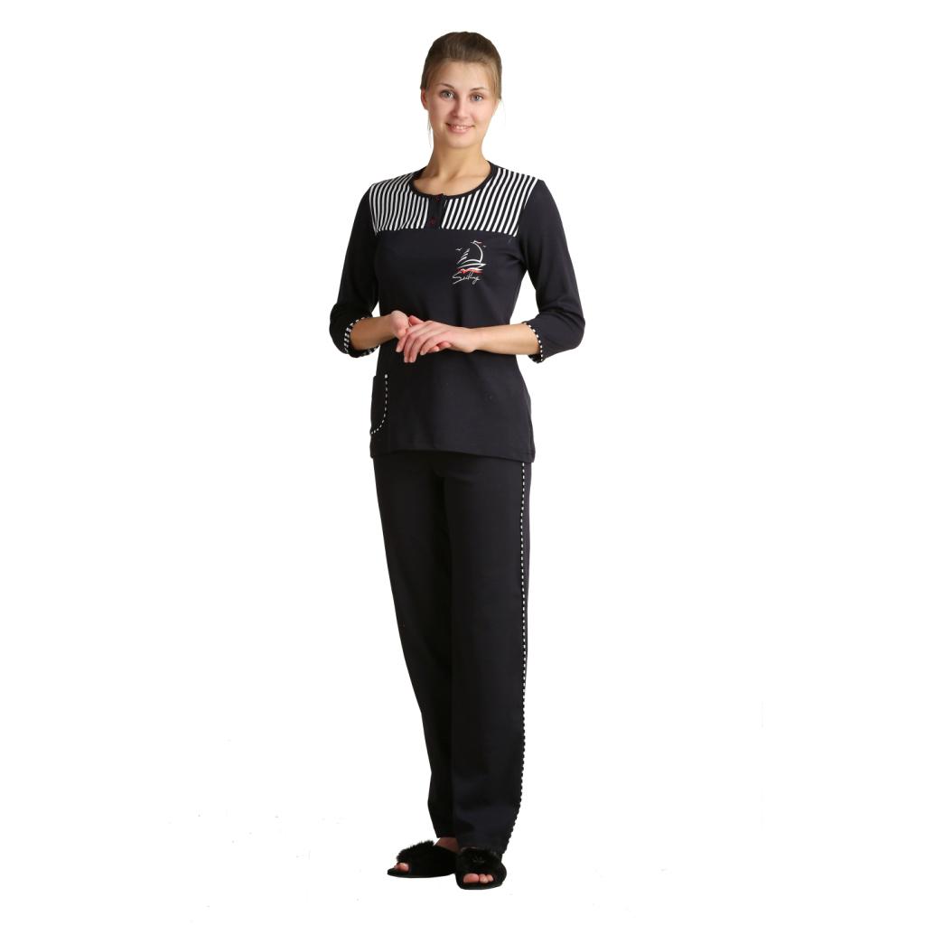Женский костюм «Сейлор», размер 44Костюмы<br>Обхват груди:88 см<br>Обхват талии:69 см<br>Обхват бедер:96 см<br>Рост:164-170 см<br><br>Тип: Жен. костюм<br>Размер: 44<br>Материал: Интерлок