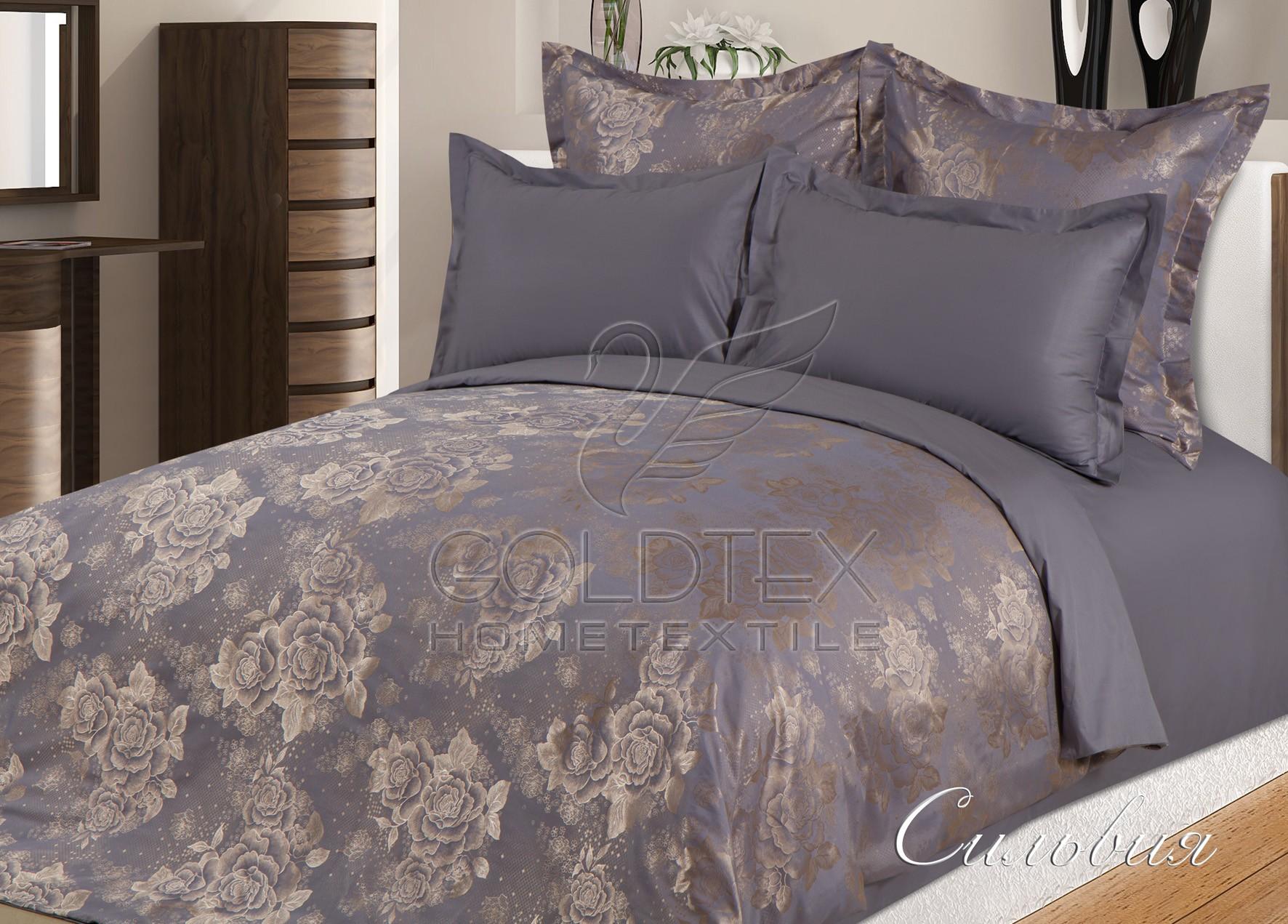Комплект  Сильвия , размер 2,0-спальный с 4 наволочками - Постельное белье артикул: 10675