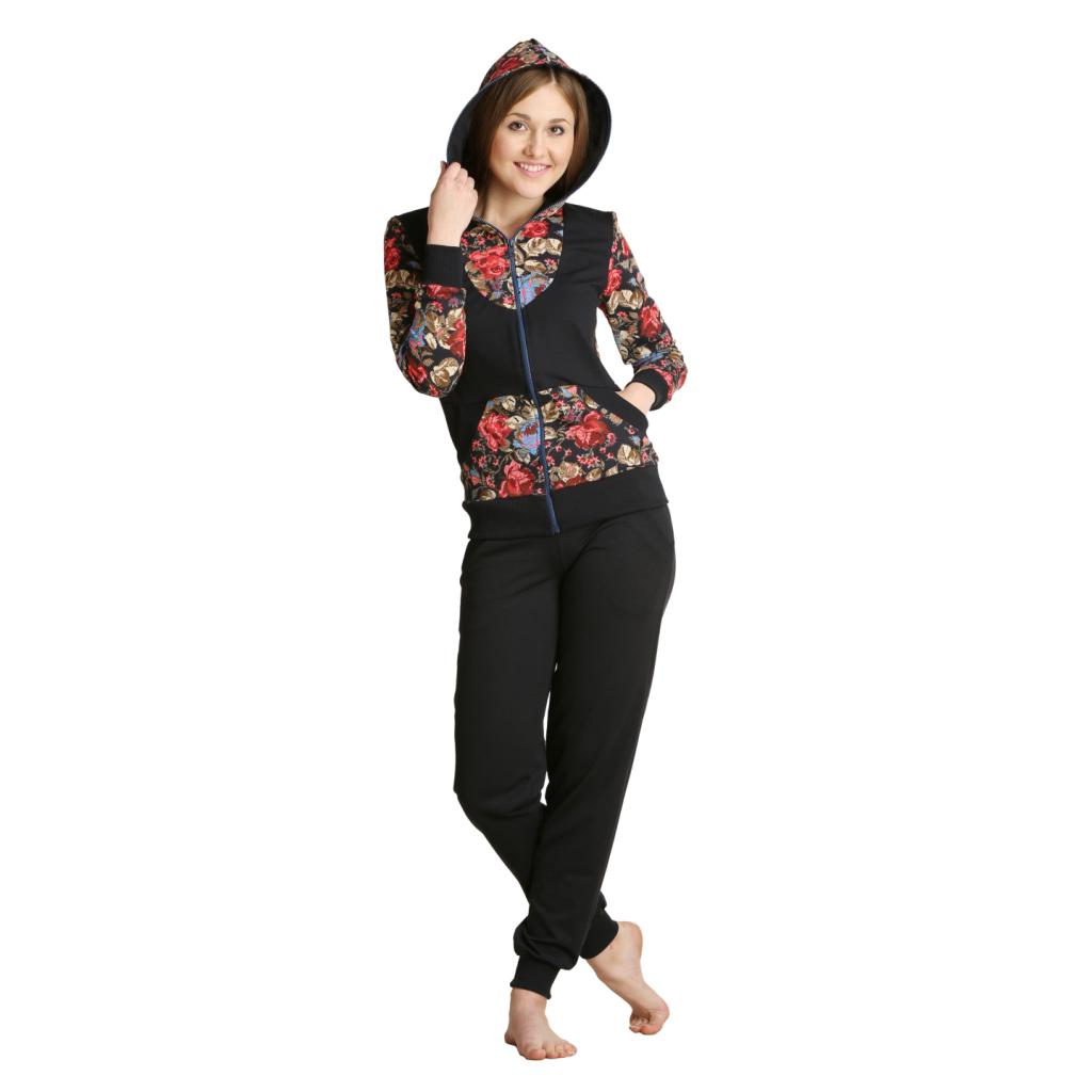 Женский костюм «Дженн» арт. 0130, размер 46Костюмы<br>Обхват груди:92 см<br>Обхват талии:73 см<br>Обхват бедер:100 см<br>Рост:164-170 см<br><br>Тип: Жен. костюм<br>Размер: 46<br>Материал: Футер