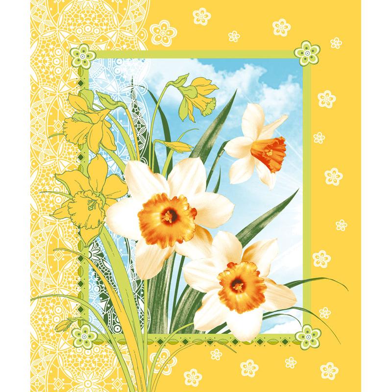 Вафельное полотенце Цветы весны, размер 50х60 смВафельные полотенца<br><br><br>Тип: Вафельное полотенце<br>Размер: 50х60<br>Материал: Вафельное полотно