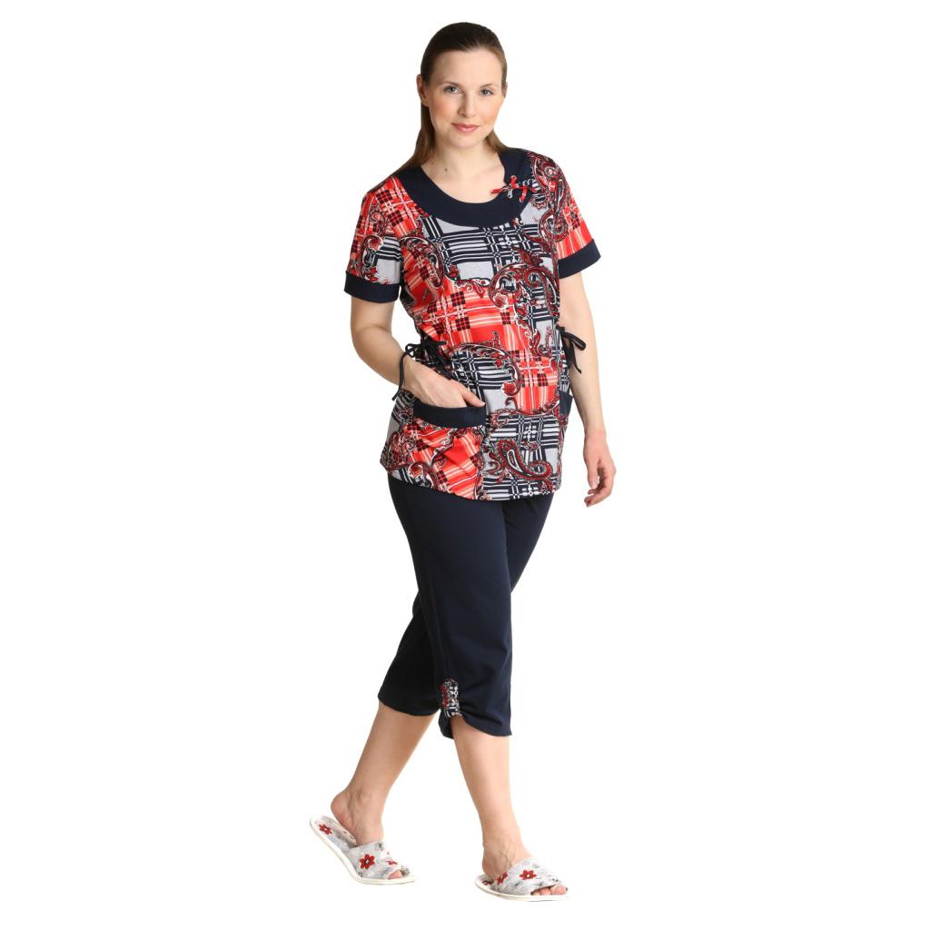 Женский костюм «Кантри» коралловый, размер 62 ЕленаТекс