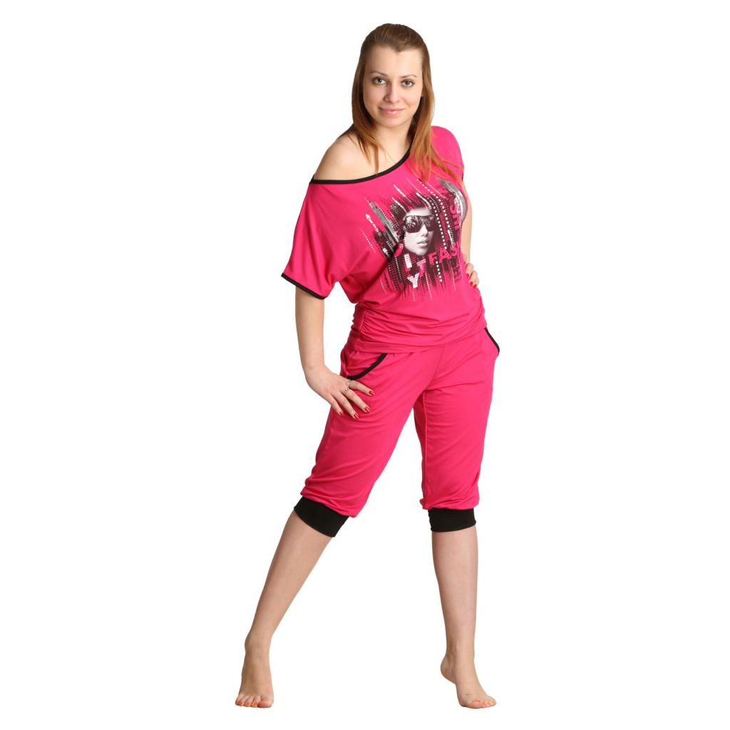 Женский костюм «Агнес» малиновый, размер 44Костюмы<br>Обхват груди:88 см<br>Обхват талии:69 см<br>Обхват бедер:96 см<br>Рост:164-170 см<br><br>Тип: Жен. костюм<br>Размер: 44<br>Материал: Вискоза