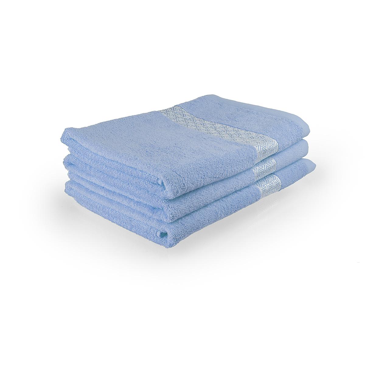 Полотенце Серебро Голубой, размер 50х90 смМахровые полотенца<br>Плотность ткани:360 г/кв. м.<br><br>Тип: Полотенце<br>Размер: 50х90<br>Материал: Махра