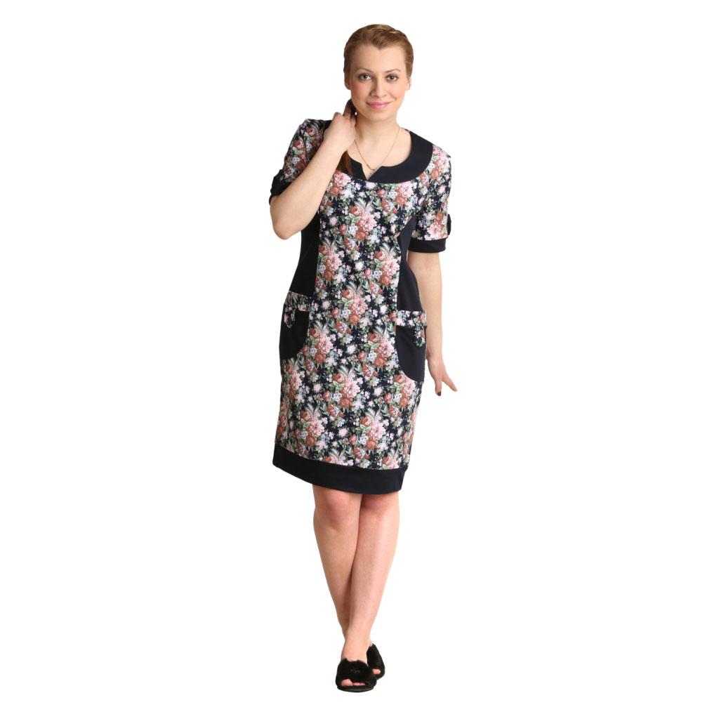Женская туника-платье Валерия, размер 60Платья<br>Обхват груди:120 см<br>Обхват талии:105 см<br>Обхват бедер:128 см<br>Длина по спинке:99 см<br>Рост:164-170 см<br><br>Тип: Жен. туника<br>Размер: 60<br>Материал: Интерлок