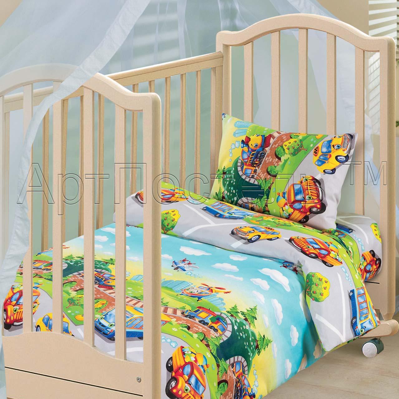 Детский комплект Детский парк, размер ЯсельныйДетское бязь<br>Плотность ткани:125 г/кв. м<br>Пододеяльник:147х112 см - 1 шт.<br>Простыня:150х110 см - 1 шт.<br>Наволочка:40х60 см - 1 шт.<br><br>Тип: КПБ<br>Размер: Ясельный<br>Материал: Бязь