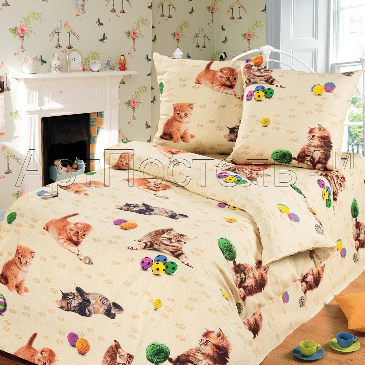 Детский комплект  Усатый-полосатый , размер 1,5-спальный - Постельное белье артикул: 7811