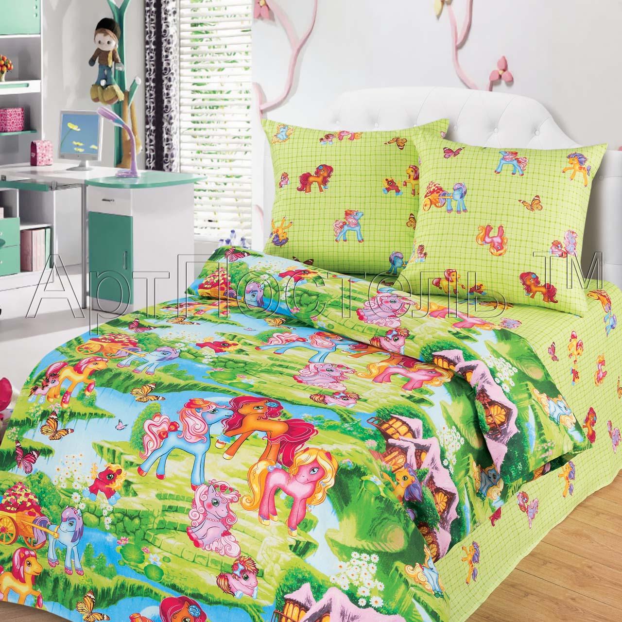 Детский комплект  Волшебные сны , размер 1,5-спальный - Постельное белье артикул: 7817
