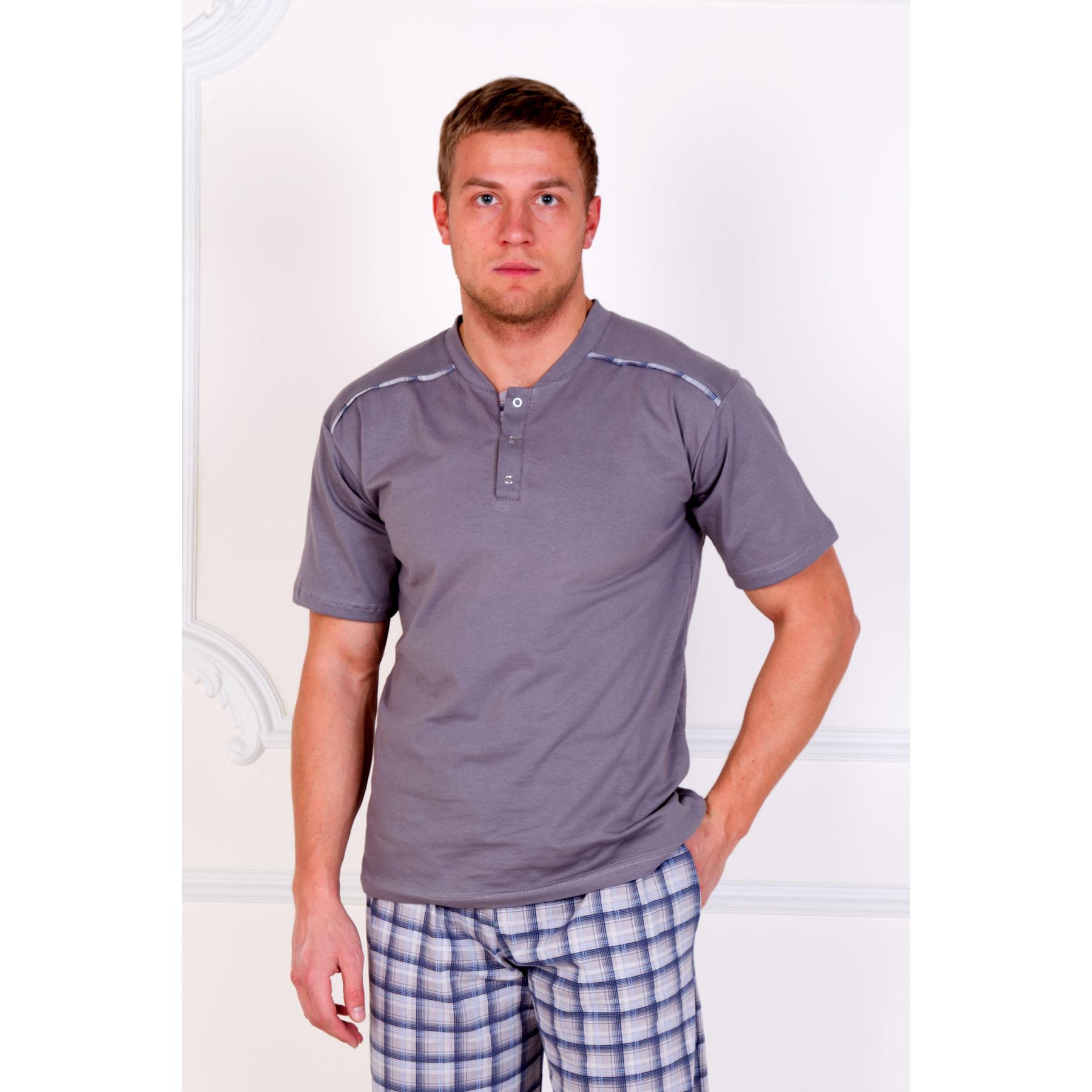 Мужской костюм Клетка Серый, размер 56Костюмы<br>Обхват груди: 112 см <br>Обхват талии: 104 см <br>Обхват бедер: 112 см <br>Рост: 178-186 см<br><br>Тип: Муж. костюм<br>Размер: 56<br>Материал: Кулирка