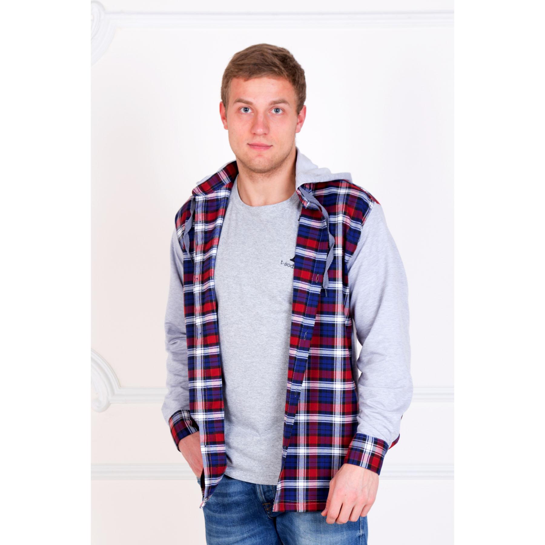 Мужская рубашка «Адриан» Красный, размер 54Толстовки, джемпера и рубашки<br>Обхват груди:108 см<br>Обхват талии:100 см<br>Обхват бедер:110 см<br>Рост:178-184 см<br><br>Тип: Муж. рубашка<br>Размер: 54<br>Материал: Шотландка