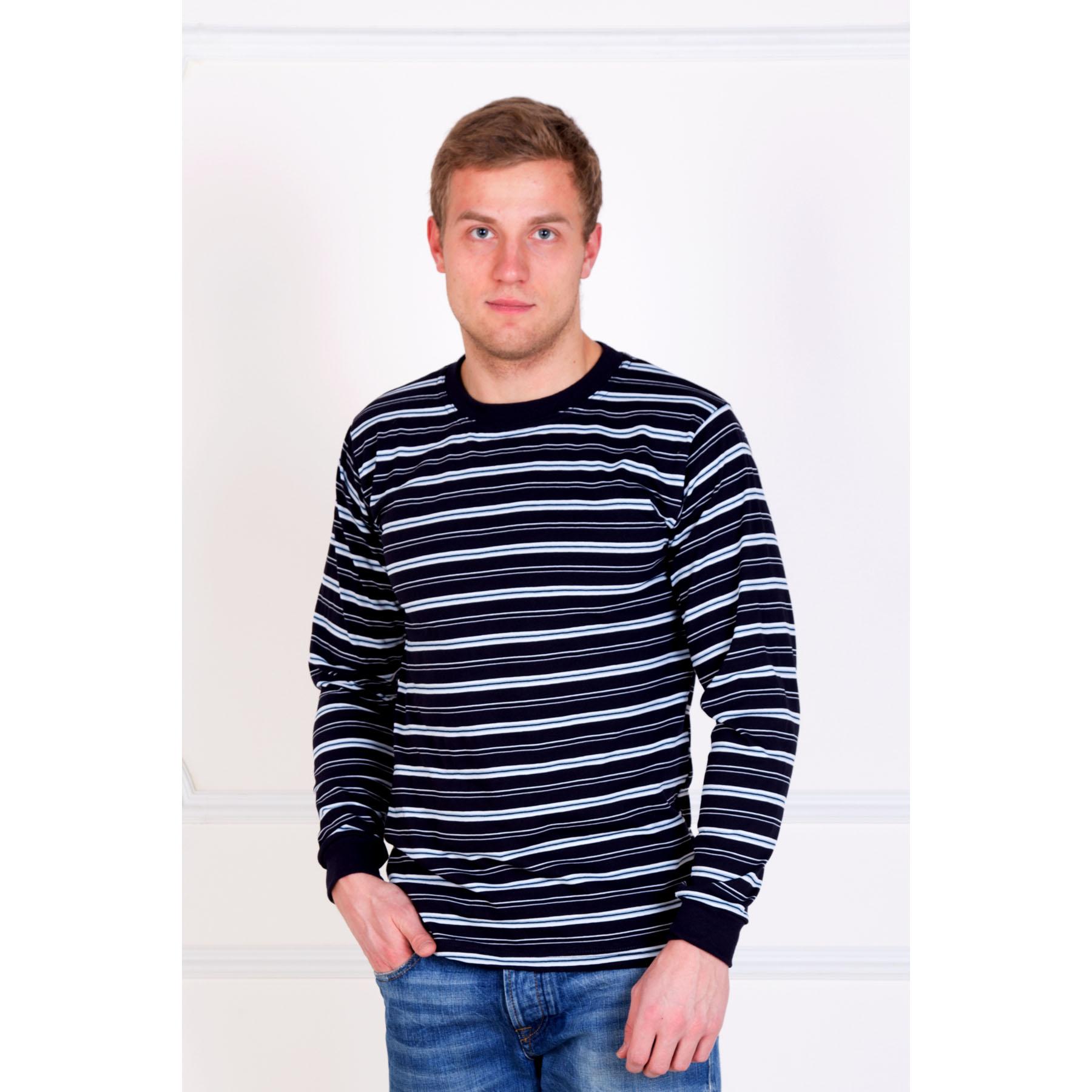 Мужской джемпер  Полосы  Черный, размер 44 - Мужская одежда артикул: 16581