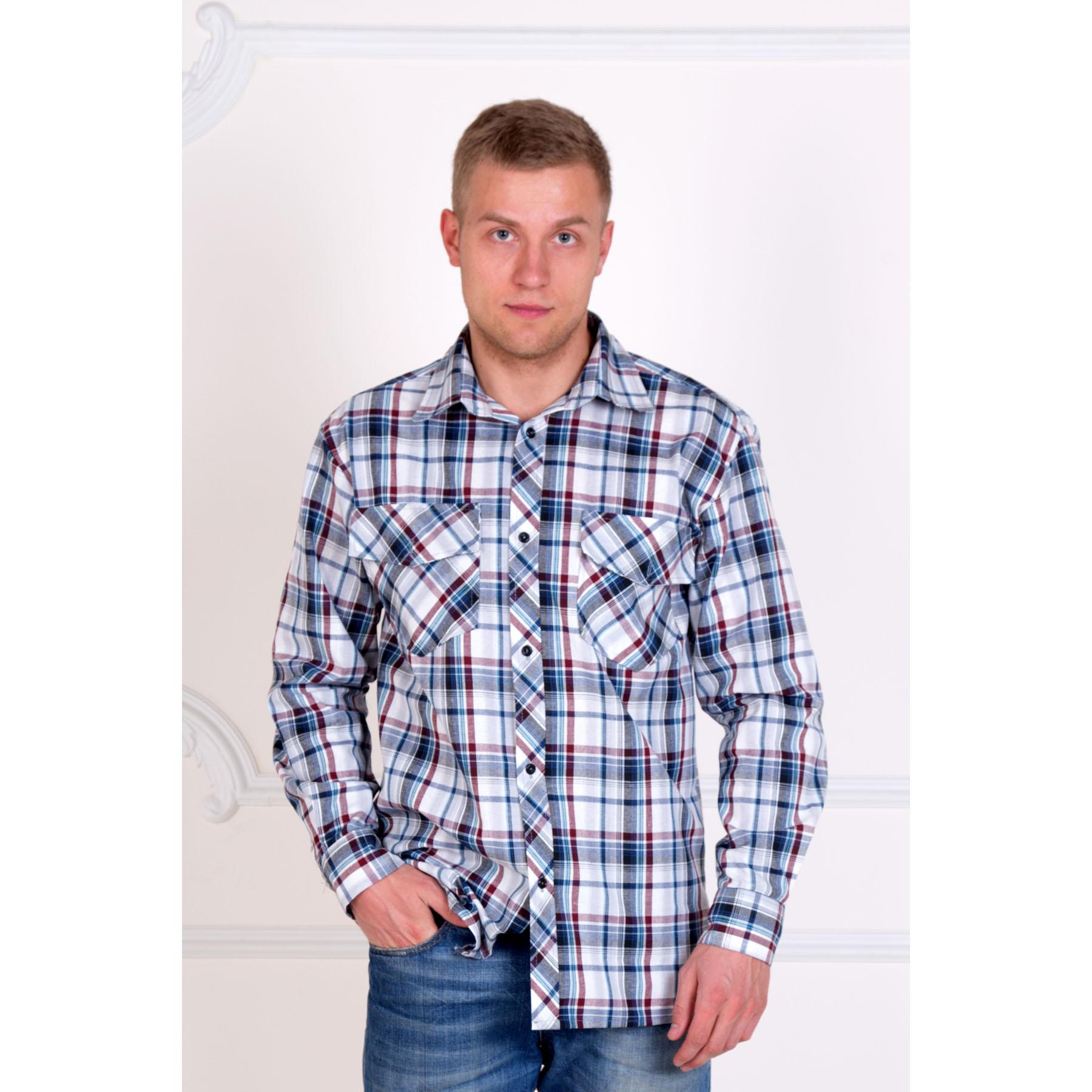 Мужская рубашка «Шотландия», размер 52Толстовки, джемпера и рубашки<br>Обхват груди:104 см<br>Обхват талии:96 см<br>Обхват бедер:108 см<br>Обхват шеи, ворот:42 см<br>Рост:176-182 см<br><br>Тип: Муж. рубашка<br>Размер: 52<br>Материал: Шотландка