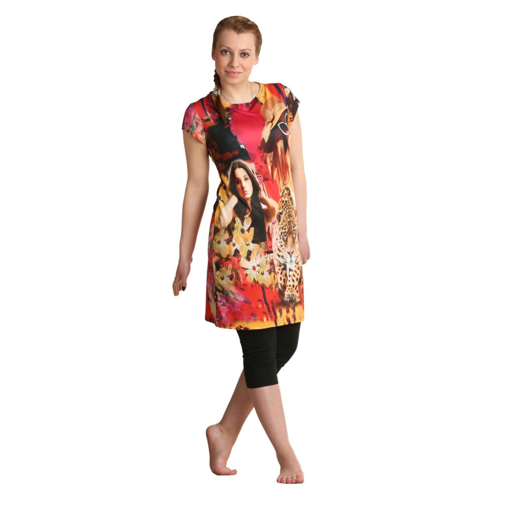 """Женская туника-платье """"Ширен"""", размер 42 ЕленаТекс"""