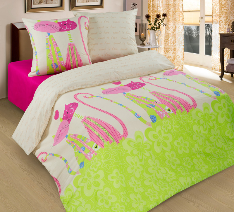 КПБ Кошки, размер 2,0-спальный кпб сити в коричневом размер 2 0 спальный