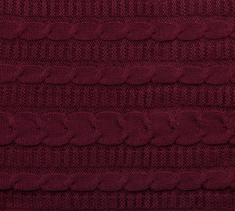 Вязанный плед Бордо, размер 140х180 см.Пледы<br><br><br>Тип: Плед<br>Размер: 140х180<br>Материал: -
