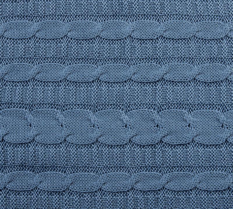 Вязанный плед Светло-голубой, размер 140х180 см.Пледы<br><br><br>Тип: Плед<br>Размер: 140х180<br>Материал: -