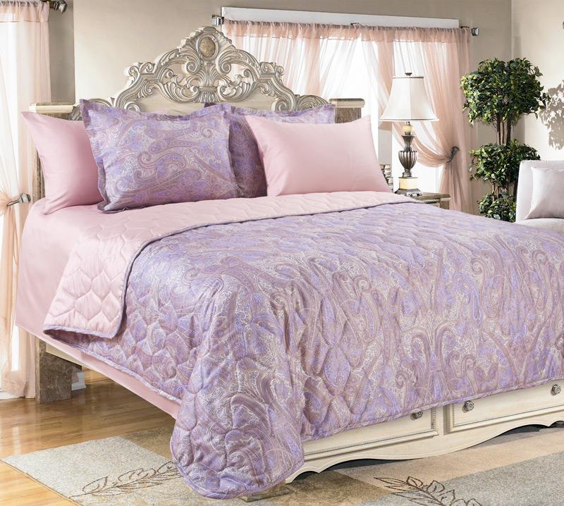 """Покрывало """"Кашмир"""" Фиолетовый, размер 240х210 см Текс-Дизайн"""