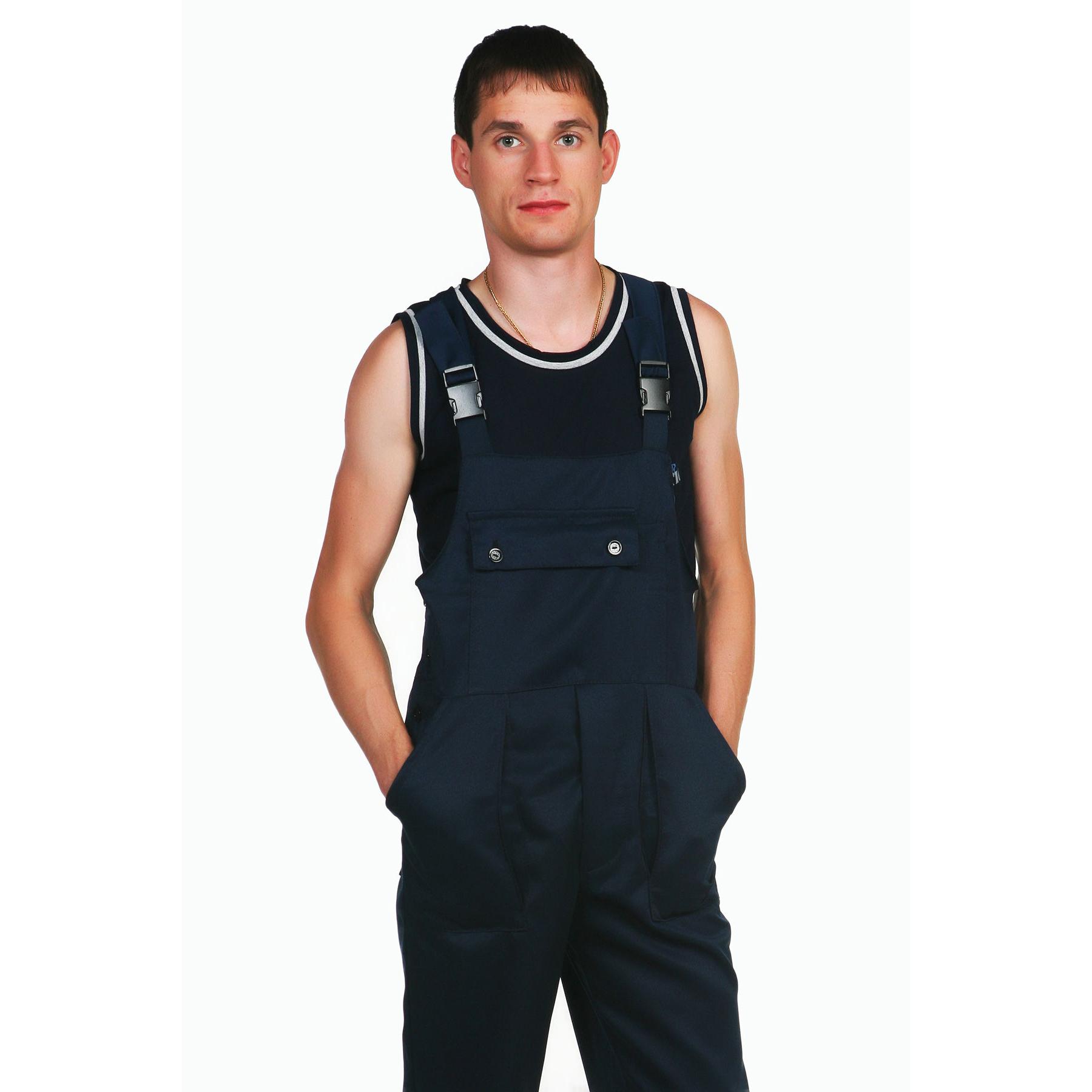 Мужской полукомбинезон «Техник», размер 44Спецодежда<br><br><br>Тип: Муж. брюки<br>Размер: 44<br>Материал: Смесовая ткань