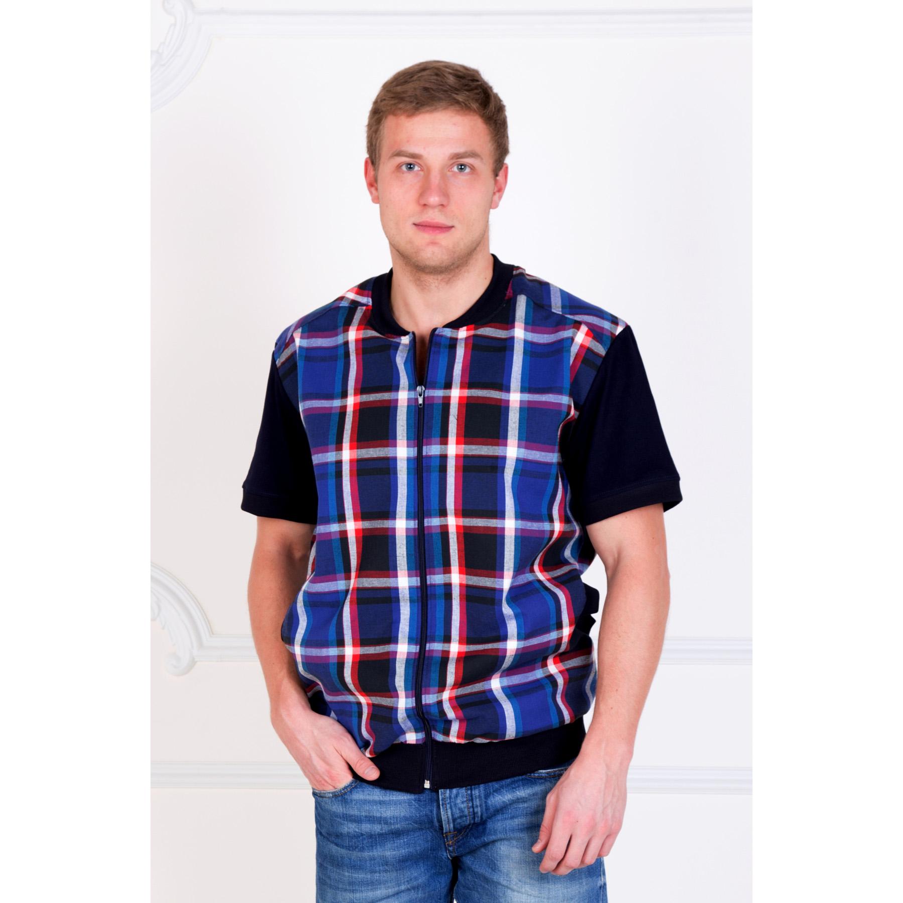 Мужская рубашка «Аполлон» , размер 44Рубашки<br>Обхват груди: 88 см <br>Обхват талии: 78 см <br>Обхват бедер: 94 см <br>Рост: 170-176 см<br><br>Тип: Муж. рубашка<br>Размер: 44<br>Материал: Шотландка