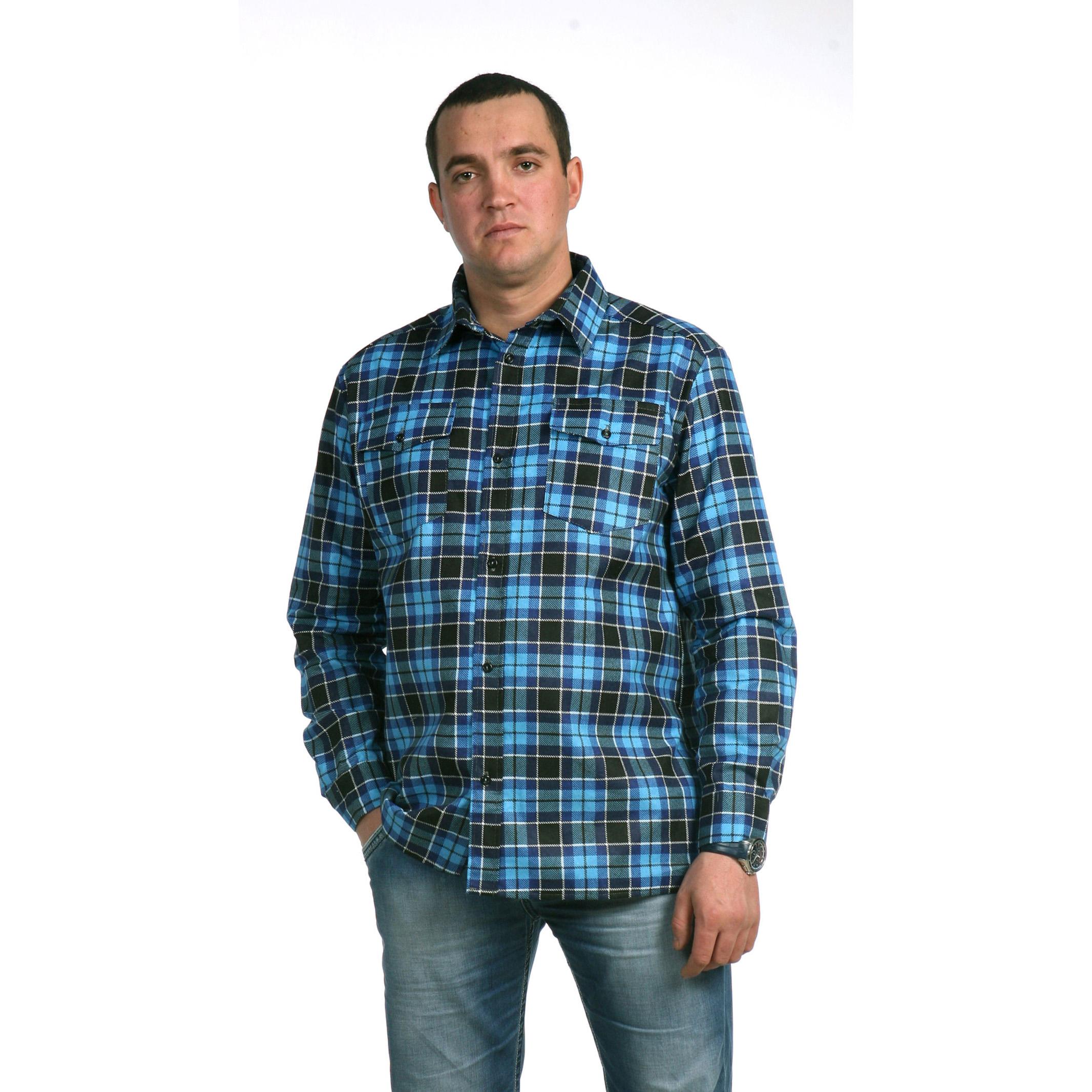 Мужская рубашка «Гарри», размер 50Рубашки<br>Обхват груди:100 см<br>Обхват талии:92 см<br>Обхват бедер:106 см<br>Обхват шеи, ворот:41 см<br>Рост:176-182 см<br><br>Тип: Муж. рубашка<br>Размер: 50<br>Материал: Фланель