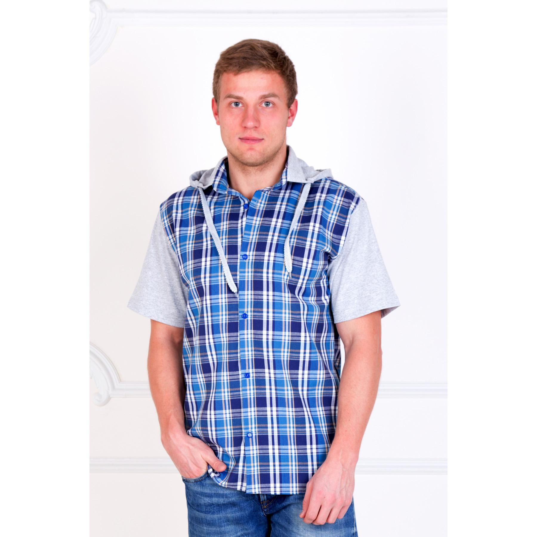 Мужская рубашка «Юстин» арт. 0031, размер 42Рубашки<br>Обхват груди: 84 см <br>Обхват талии: 84 см <br>Обхват бедер: 88 см <br>Рост: 170-176 см<br><br>Тип: Муж. рубашка<br>Размер: 42<br>Материал: Шотландка