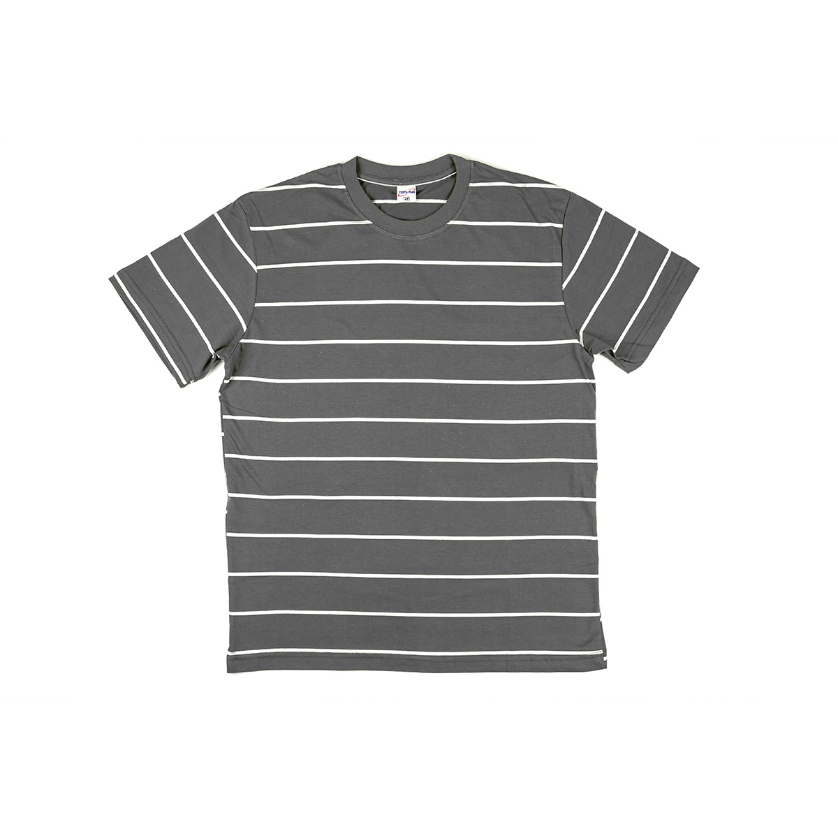 "Мужская футболка ""Simple stripe"", цвет Оранжевый в полоску, размер 48 Узбекистан ""Textil Plus"""