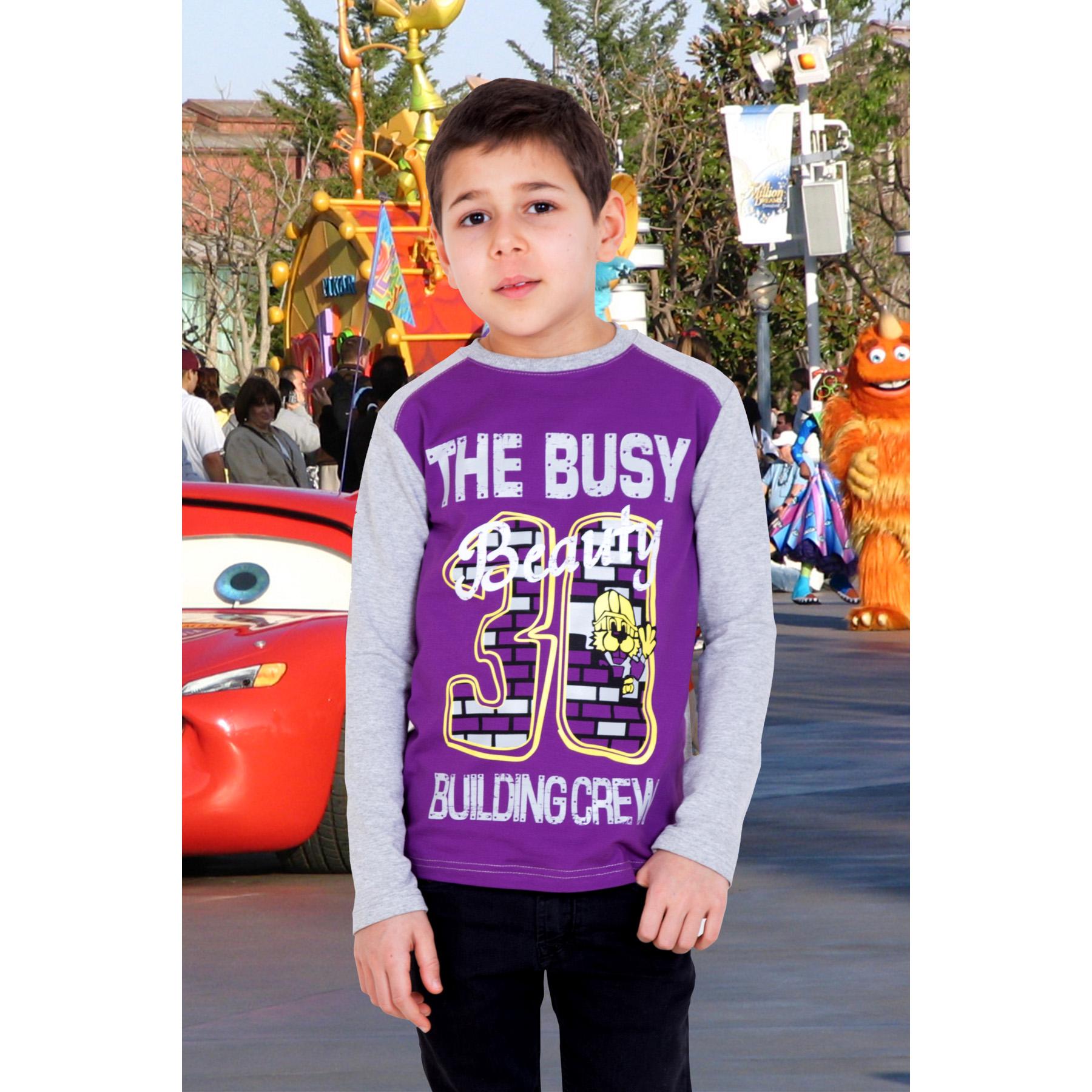 """Детская толстовка """"Строитель"""" Фиолетовый, размер 34 Лика Дресс"""