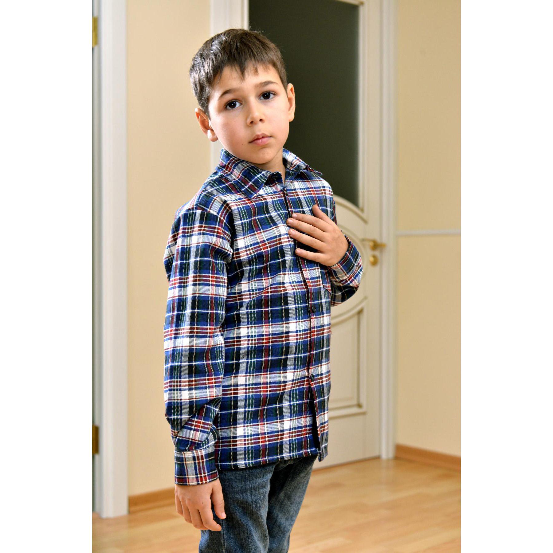 Детская рубашка Шотландия, размер 24Толстовки, джемпера и рубашки<br><br><br>Тип: Дет. рубашка<br>Размер: 24<br>Материал: Шотландка