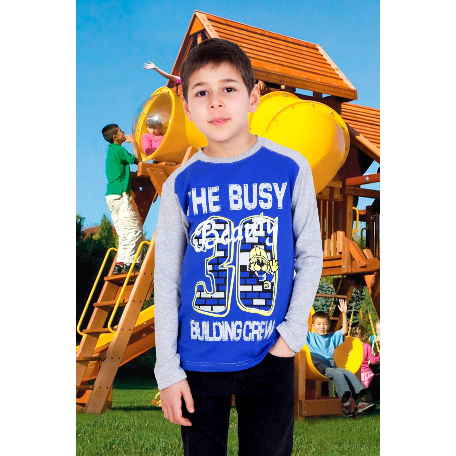 """Детская толстовка """"Строитель"""" Синий, размер 32 Лика Дресс"""
