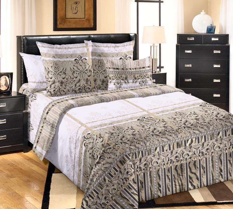 Комплект  Баккарди  Серый, размер Евро - Постельное белье артикул: 9966