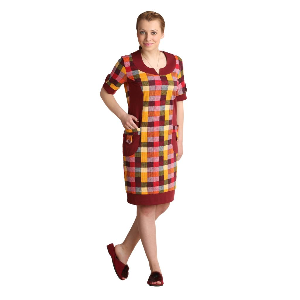 Женская туника-платье Берта арт. 0244, размер 64Платья, туники<br>Обхват груди:128 см<br>Обхват талии:120 см<br>Обхват бедер:136 см<br>Длина по спинке:99 см<br>Рост:164-170 см<br><br>Тип: Жен. туника<br>Размер: 64<br>Материал: Кулирка