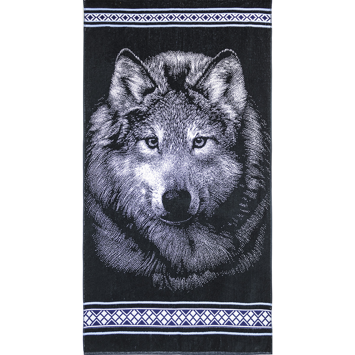 Полотенце Волк, размер 70х140 см.Махровые полотенца<br>Плотность ткани:420 г/кв. м<br><br>Тип: Полотенце<br>Размер: 70х140<br>Материал: Махра