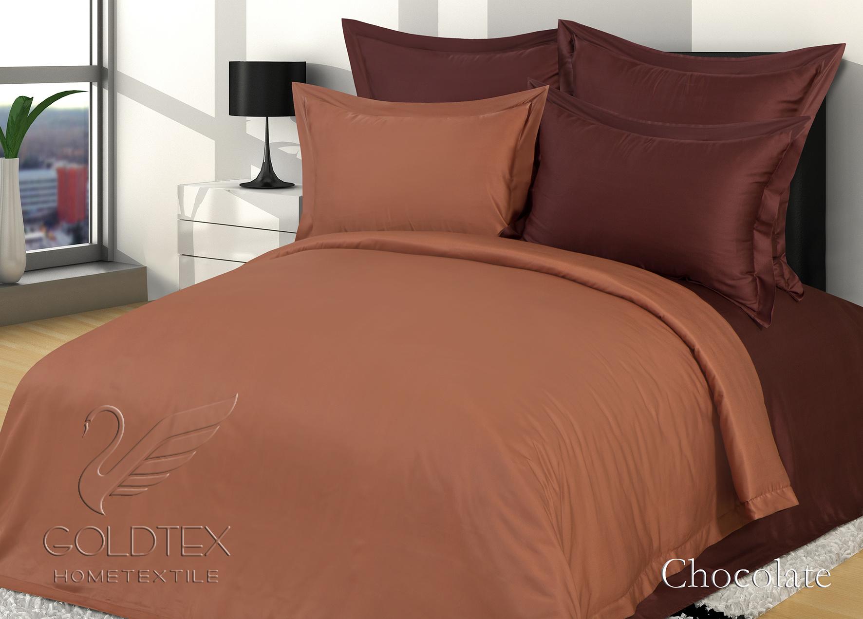 Комплект  Chocolate , размер Евро с 4 наволочками - Постельное белье артикул: 10857